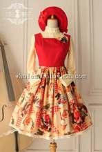 Top Sale Christmas Printing Empire Waist Sweet Jsk Lolita Dress