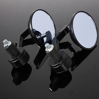 Universal 7 8 Round Bar End Rear Mirrors Moto Motorcycle Motorbike Scooters Rearview Mirror Side View