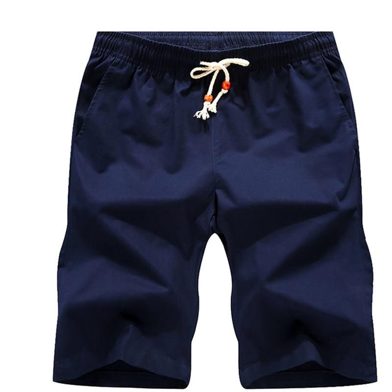 2018 marca Boardshorts casuales masculinos respirables cómodos más tamaño fresco corto Masculino verano Pantalones cortos de algodón hombres