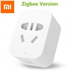 Original Xiaomi Mi Zigbee Version Smart WiFi Socket APP Remote Control Timer Power Plug Power Detection Plug Work with Gateway