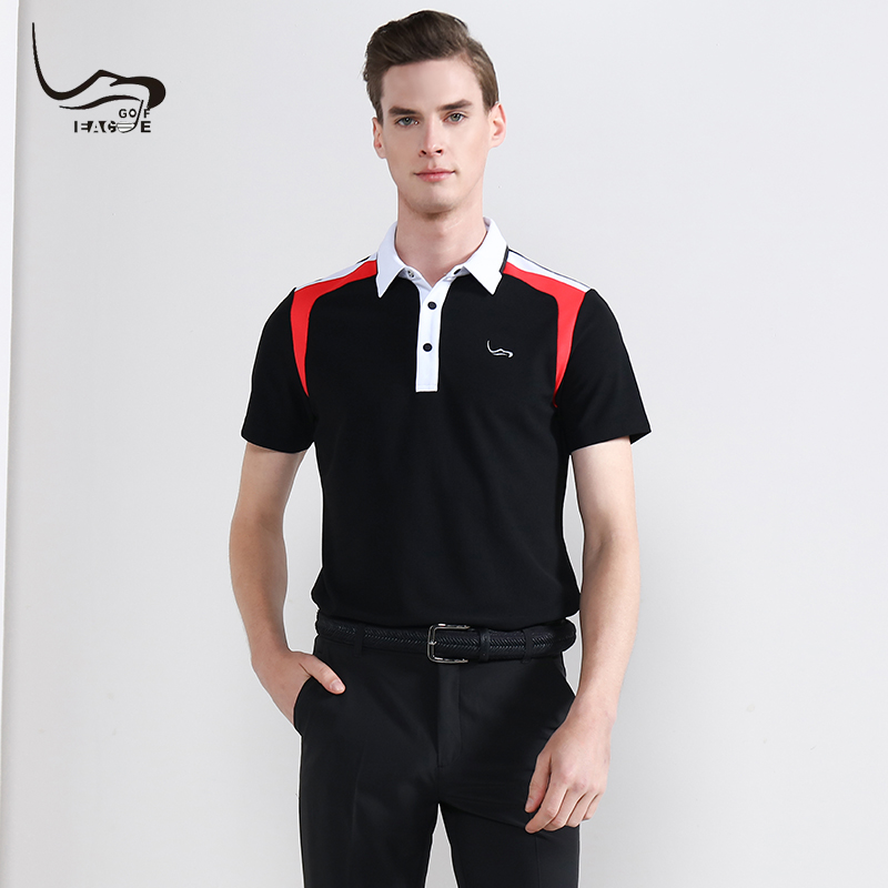2019 NEW EAGEGOF Summer Man Golf Shirt Short sleeve Male Sportswear Quick Dry Golf clothing for