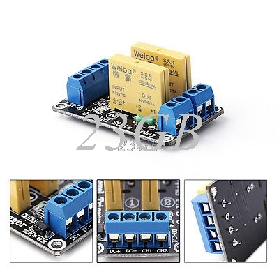 2 Channel SSR Solid State Relay High-low Trigger 5A 24V JUL24_15 normally open single phase solid state relay ssr mgr 1 d48120 120a control dc ac 24 480v