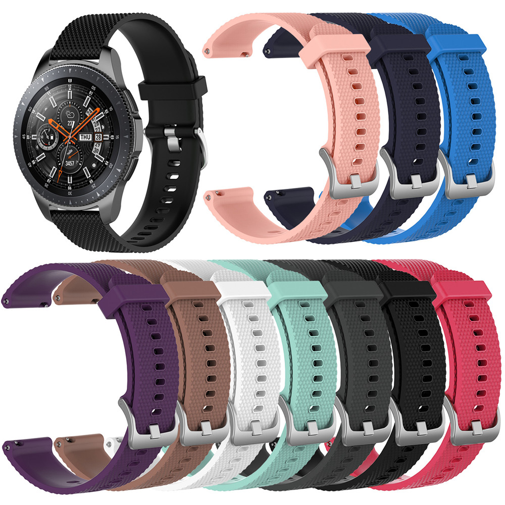 Silicone Watchband Strap for Samsung Galaxy Watch 46mm SM R800 For Huami amazfit 2 stratos For
