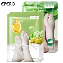 EFERO 6 Pack Exfoliating Foot Mask for Legs Pedicure Socks Feet Peeling Mask Dead Skin Moisturizing Whitening Mask Foot Care цена