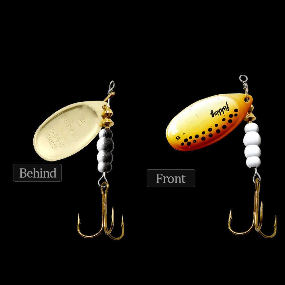 Рыбий король приманка 1 шт. 3,2 г 4,3 г 6,1 г 9,6 г 13,6 г рыболовная приманка окунь твердые приманки Колеблющаяся блесна с тройной Крюк высокого качества