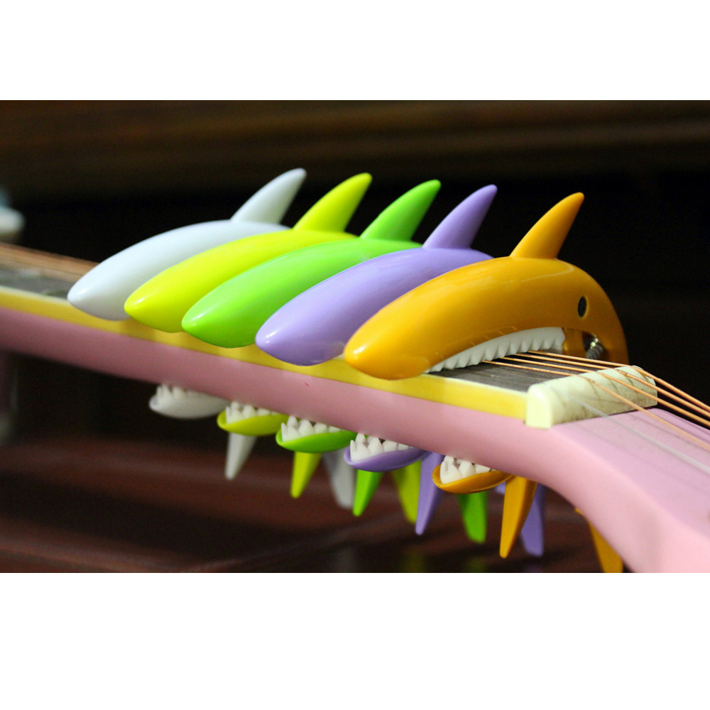 Personality Shark Capo Multiple Color Options Ukulele Guitar Parts /& Accessories