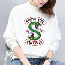 Riverdale Hoodies Harajuku Punk South Side Serpents Sweatshirt Crop Top Women Kpop Korean Fashion Cropped Hoodie Casual Pullover(China)