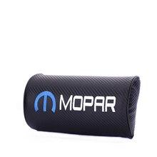 Embroidery for MOPAR emblem Car carbon fiber style headrest soft Neck Pillow Chrysler jeep ford chevrolet bmw accessories