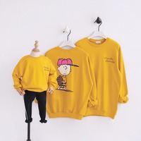 HT2120 Spring Autumn Sweatshirt Boy Girls Tops Mother Baby Father Costume Family Matching Outfits Family Clothes Kids Outwear