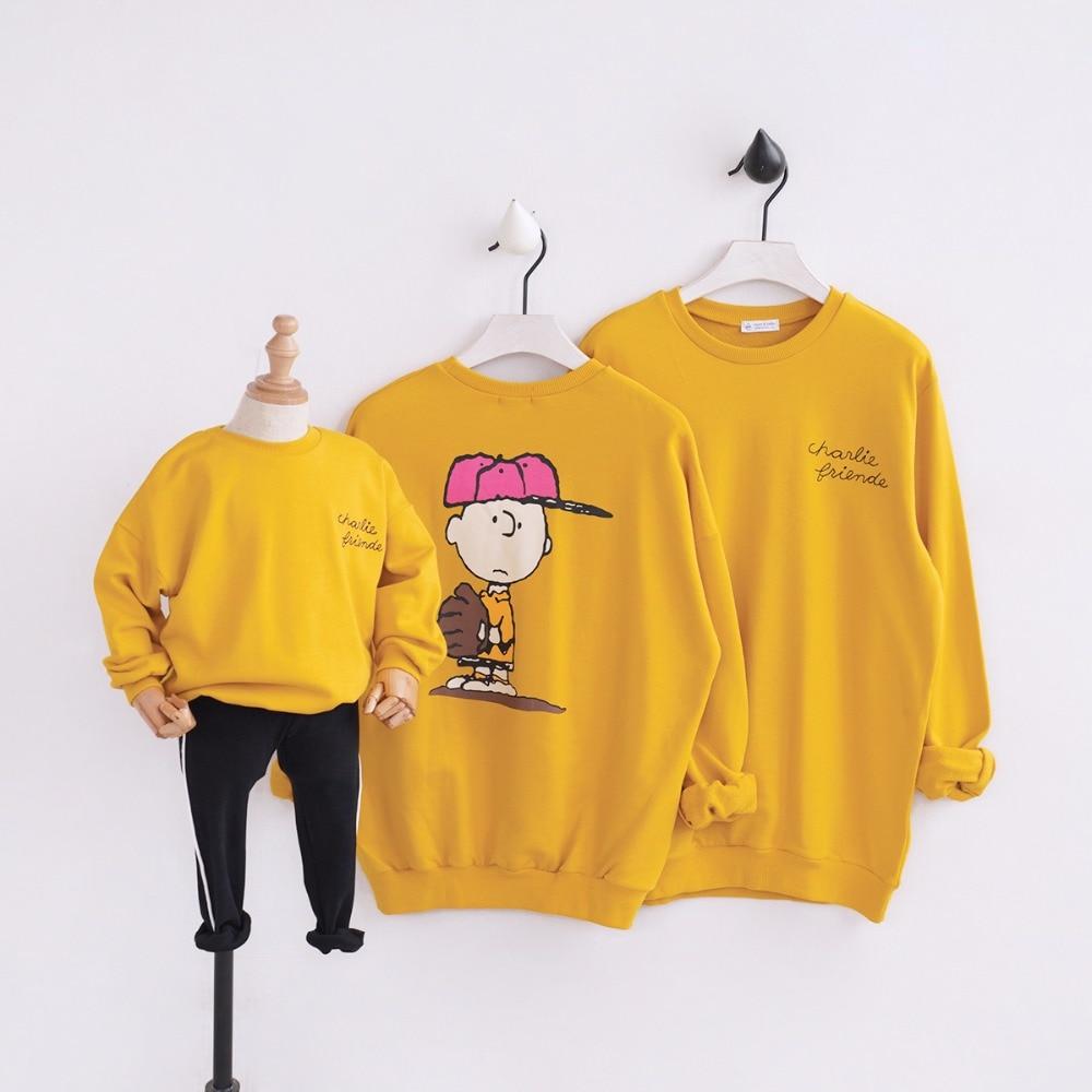 HT2120 printemps automne sweat garçon filles hauts mère bébé père Costume famille correspondant tenues famille vêtements enfants Outwear