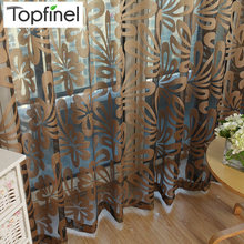 Topfinel Geometric Modern Window Sheer Curtain Panels for Living Room the Bedroom Kitchen Blinds Window Treatments Draperies(China)