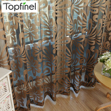 Paneles de cortina transparentes de ventana moderna geométricos Topfinel para sala de estar persianas de cocina de dormitorio cortinas de tratamientos de ventana