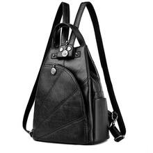 Дизайнер Высокое качество кожи многофункциональный Рюкзаки для подростков Обувь для девочек SAC основной Для женщин Винтаж школы Mochilas сумка