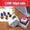 15 Estilos Mini Fidget Brinquedos do Cubo Original Qualidade Dedo Fun Apaziguador do esforço Toy Squeeze Com Caixa de Mesa De Vinil