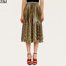 Женская весенне-летняя новая модная однотонная плиссированная юбка средней длины с высокой талией Женская пляжная юбка