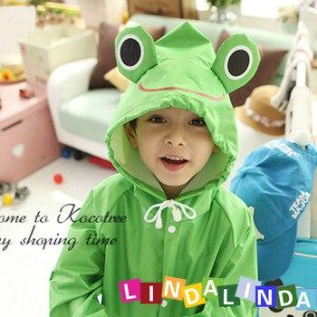 cfef8eeb0f3 Los niños de dibujos animados coloridos Poncho capa de lluvia para niños impermeable  ropa impermeable/chaqueta de lluvia de los niños impermeable Animal ...