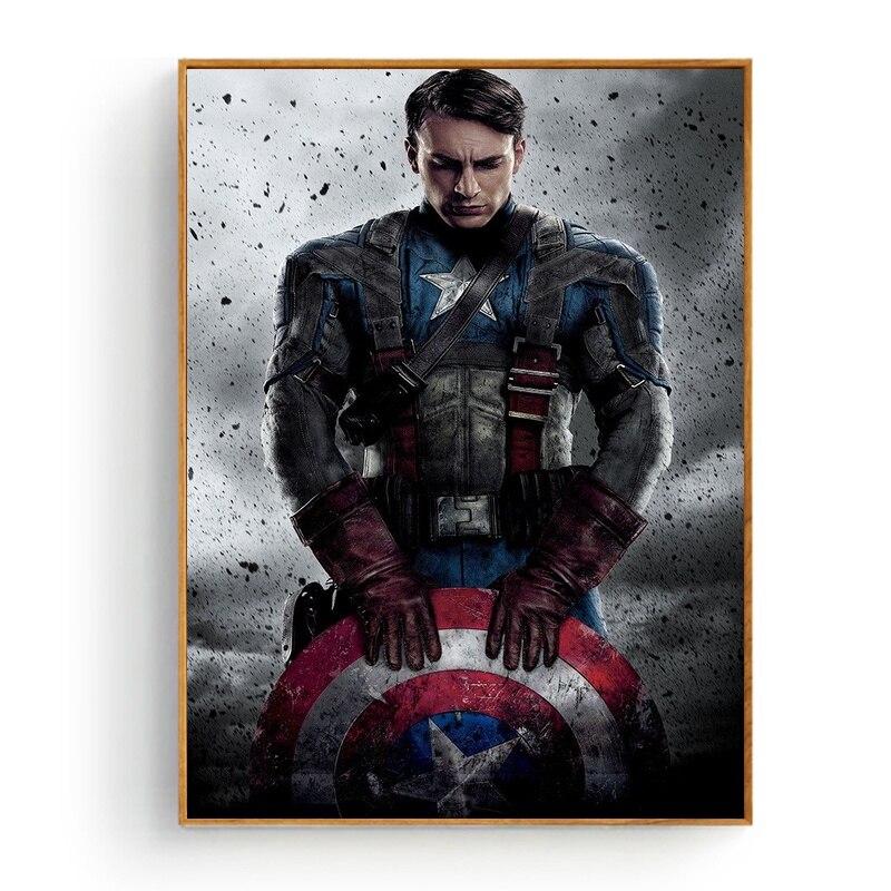 Капитан Америка Первый мститель кино художественный постер спальня декоративная шелковая ткань с принтом без рамки|Рисование и каллиграфия|   | АлиЭкспресс
