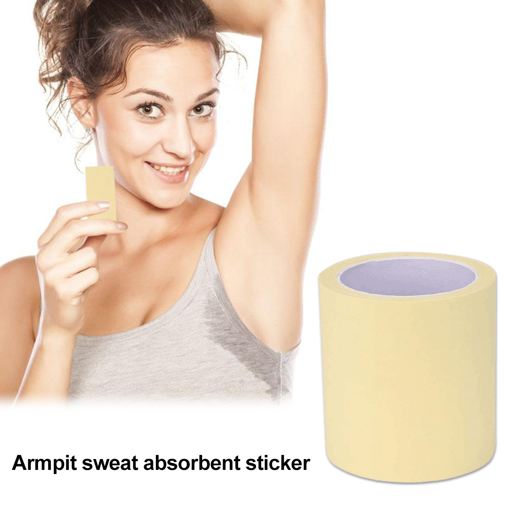 1 Roll Disposable Armpit Prevent Sweat Pads Transparent Underarm Dry Dry Antiperspirant Sticker Keep Dry Sticker TSLM2
