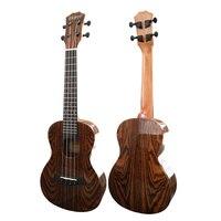 23 inch Ukulele Colorful butterfly wood Glossy Concert Ukelele 18 copper frets Aquila Nylon strings Uku Hawaii acoustic guitar