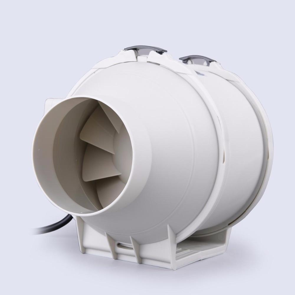 все цены на E-EMS Free Shipping 4inch HON&GUAN HF-100P Ventilation System Exhaust air mixed flow inline duct fan farm ventilators duct FAN онлайн