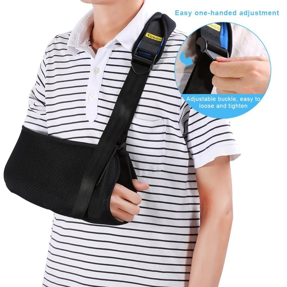 Yosoo Medical Arm Sling Dislocated Shoulder Sling Broken Arm Wrist Elbow Support Fracture Injury Arm Brace Sling For Men Women