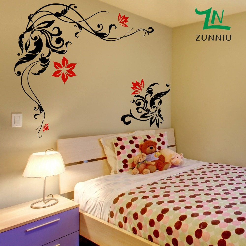 Aliexpress buy j32 large flower wall stickers wall decals aliexpress buy j32 large flower wall stickers wall decals wall graphic from reliable wall decals suppliers on zunniu vinyl designs store amipublicfo Gallery