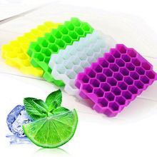 2019 37 Tray Silicone Flexible Small Ice Cube-Tray Hexagonal Puree Hexagon No Lid New Arrival