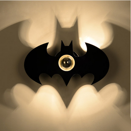 ФОТО Modern brief Creative personality iron Bat wall lamp for bedroom and restaurant with E27 shadowless bulb lamp