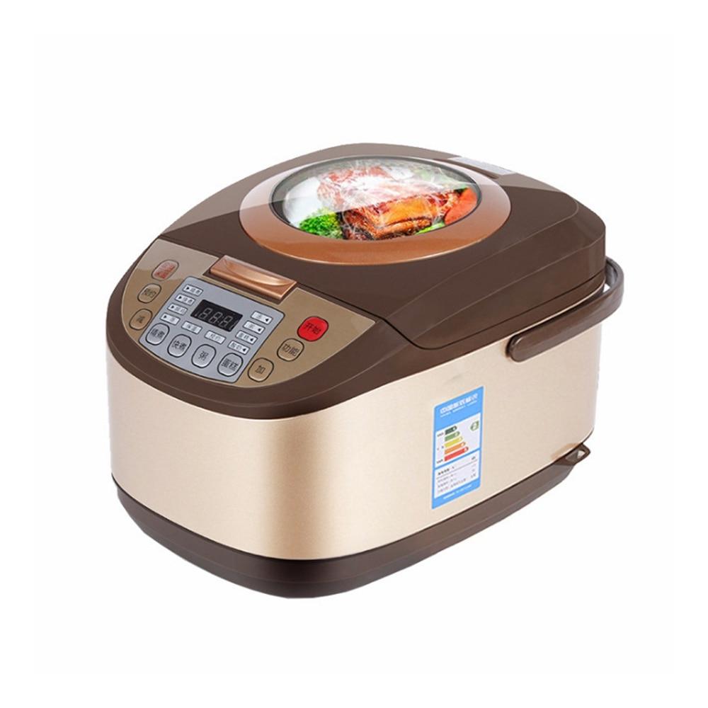 DMWD Transparent Lid 5L Home Intelligent Rice Cooker 220V 900W Multifunctional Electric Pot Yogurt Cake Machine 24H Appointment
