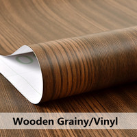 DIY Matte Glossy Wood Grain Textured Vinyl Wrap Sticker Car Home Interior Decors 1.24m x 10m Roll