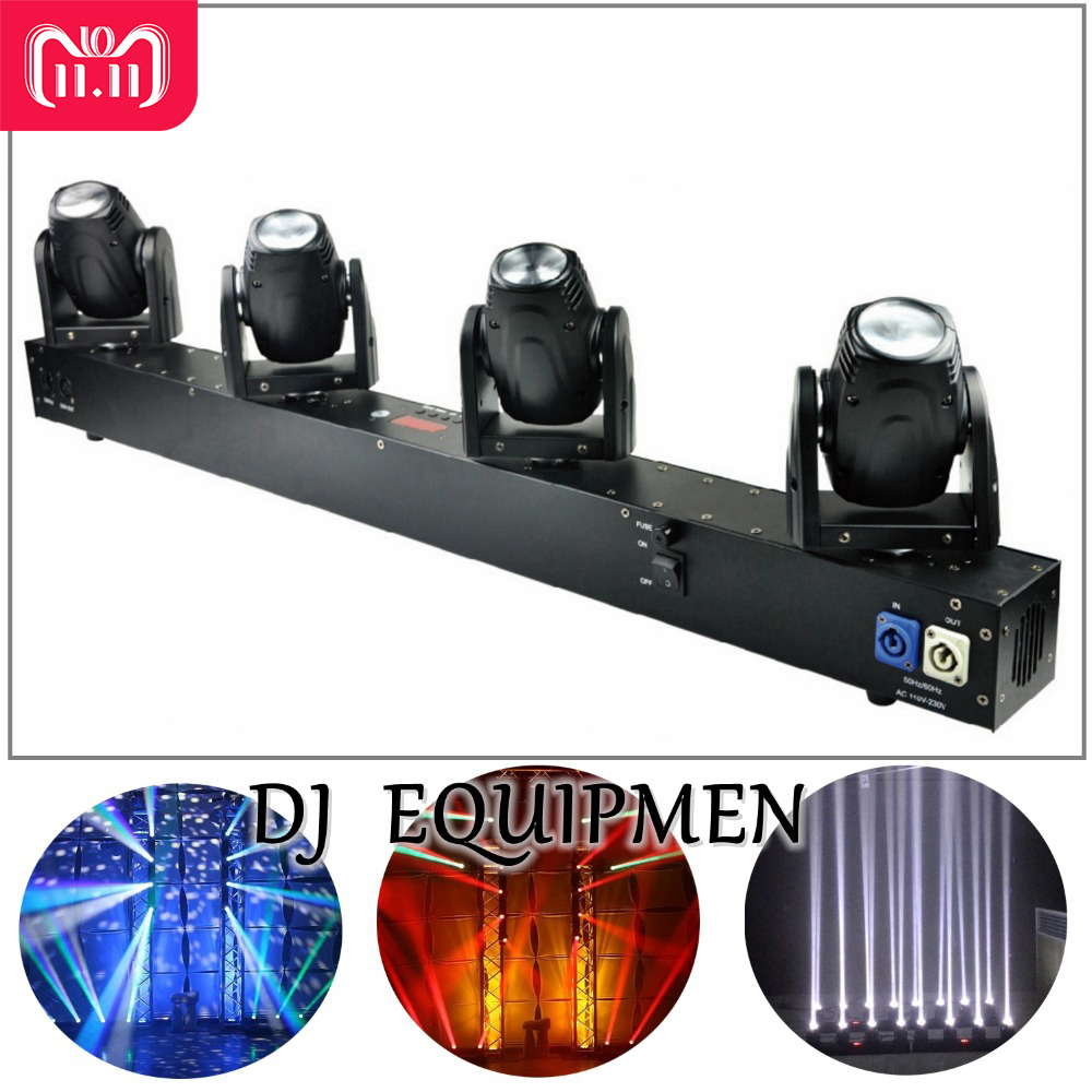 DJ equipment 4 Heads 60W Led Mini Beam Moving Head Light Professional Stage DJ Lighting DMX Controller Disco Projector Lasers марвин гэй marvin gaye trouble man motion picture soundtrack lp