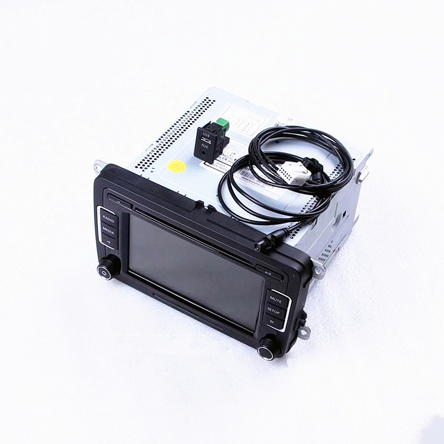 RCD510 Car Radio + USB + AUX Plug + Cables + Code CD MP3 For VW Jetta Golf Passat B6 Scirocco EOS Touran 5ND 035 190 A 3AD035190