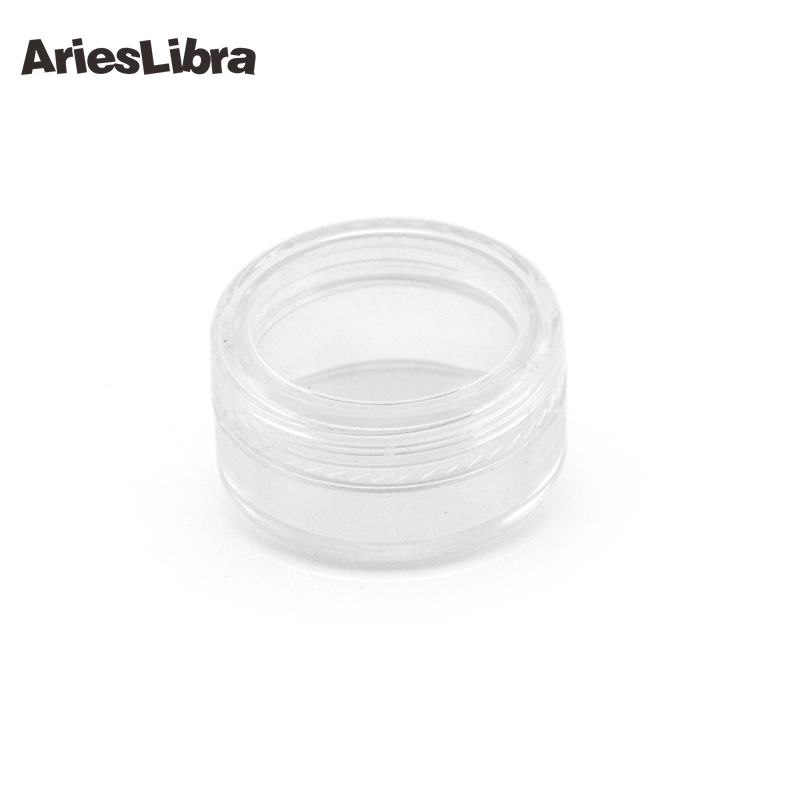 AriesLibra 200pcs/set Clear Cosmetic Empty Jar Pot Eyeshadow Makeup Face Cream Container Nail Art Rhinestone Box 10pc mini refillable bottles cosmetic empty jar acrylic pot eyeshadow acrylic makeup bottle jar face cream box container storage