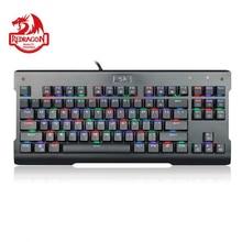 Redragon K561 VISNU Mechanical Gaming Keyboard RGB Backlit 87 Keys Anti ghosting Waterproof Keypad with Clicky Blue Switch PC
