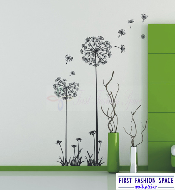 Charmant Modern DANDELION FLOWERS Nature Wall Decals Vinyl Art Mural Wall Stickers  For Living Room Home Decor