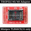 Оригинальный Адаптеры TSOP32 TSOP40 TSOP48 ZIF адаптер комплект только для MiniPro TL866 TL866A TL866CS Универсальный Программатор