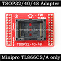 Original Adaptadores TSOP32 TSOP40 TSOP48 ZIF adaptador kit apenas para TL866 MiniPro TL866A TL866CS Programador Universal