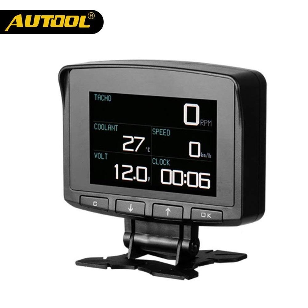 AUTOOL X50 PRO индикатор на лобовом стекле OBD II Head Up Дисплей Цифровой автомобиль компьютер Авто ecu пленки датчика Скорость метр электронный монито