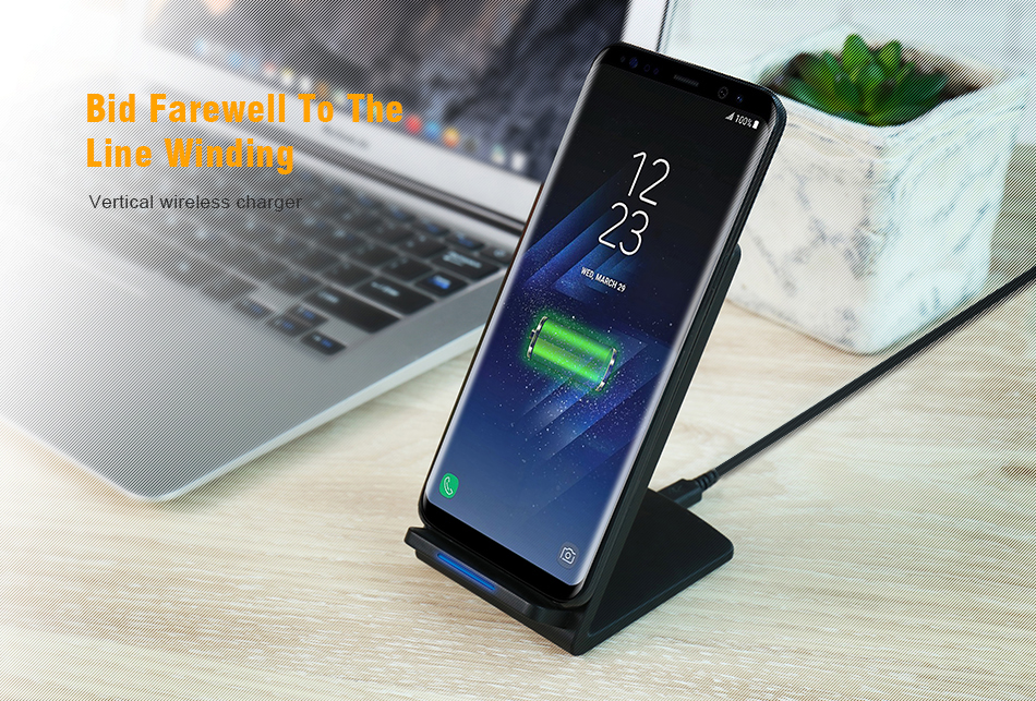 KISSCASE QI Wireless Charger Charging for Samsung Galaxy S7 Edge S8 Plus Phone Wireless USB Charger Adapter For Galaxy S8 Holder (1)