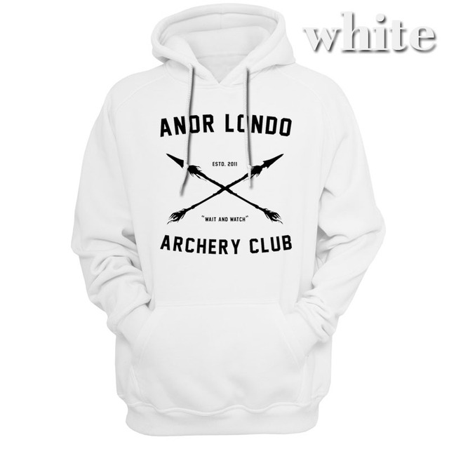 Dark Souls Anor Londo ARCHERY CLUB Hoodies Sweatshirts Men Outerwear Hoody Casual Apparel Video Game Gaming classic clothing