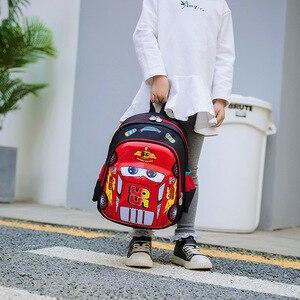 Image 3 - ディズニー車子供のバッグ、学校ミニバックパック少年少女漫画冷凍幼稚園ベビーバッグショルダープライマリ学生バッグ