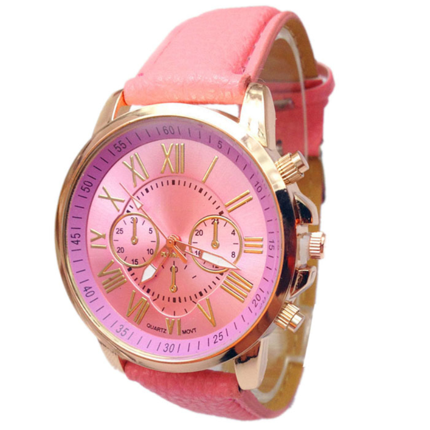 Paradise 2016 Women Stylish Numerals Faux Leather Analog Quartz Wrist Watch Free Shipping Apr08