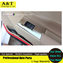11PCS Interior Air Vent Outlet Cover Trumpet reading lamp Trim For 2014 2015 Toyota Corolla high quality car styling Car Accesso