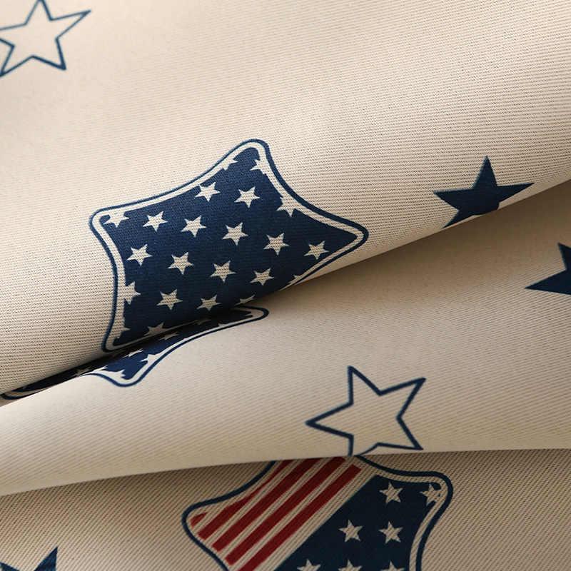 Topfinel плотные щторы для гостиной спальни с узорами звезды и полосы Детская комната милые занавески Тюль для кухня гостиной