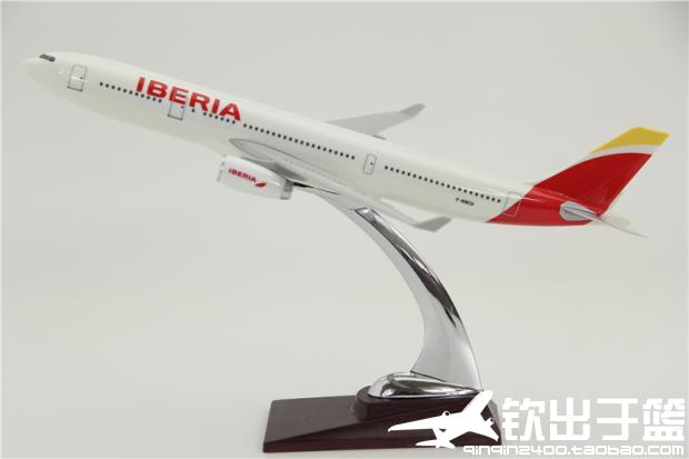 32CM Airbus A380 IBERIA 1:200 METAL Alloy Aircraft Model Collection Model Plane Toys Gifts Free express EMS/DHL/Delivery model aircraft