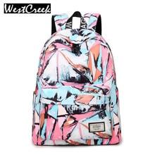 Мода Высокое качество дамы Сумки дизайнерские женские Рюкзак Повседневная живописи тушью в Корейском стиле для девочек ноутбук Bagpack