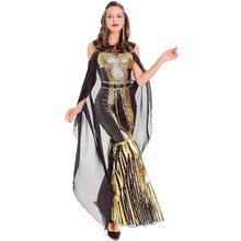3 unids gloden brillante Reina del Nilo adulto Cleopatra egipcio diosa traje  gótico disfraces de Halloween para las mujeres vest. 4dbd4d4c045e