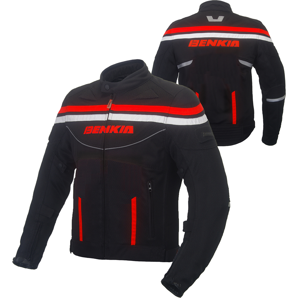 BENKIA MOTORCYCLE font b JACKET b font Chaqueta Moto Spring Summer Mesh Breathable Motocross font b