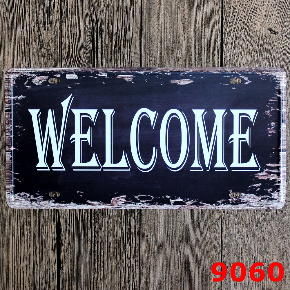 Welcome Metal Sign Home Decor