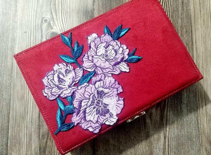 Grande rosso peonia Fiore Collare Sew on Toppe e Stemmi panno Distintivo di Applique Abito di Pizzo Ricamato Cheongsam Vestito Dai Vestiti FAI DA TE Accessori
